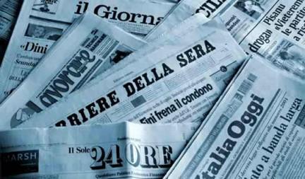 A PROPOSITO DEI GIORNALI E DELL'INFORMAZIONE ITALIANA