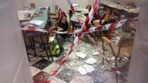 Crollo scuola: intero immobile sequestrato