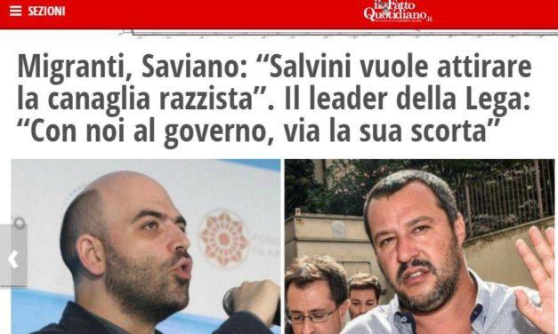 """IdealFlash – Salvini e quel """"toglieremo la scorta a Saviano"""""""