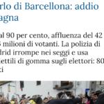 A proposito del Referendum in Catalogna e del Principio di Autodeterminazione