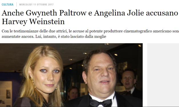 """Lo scandalo Weinstein e il silenzio """"democratico"""""""