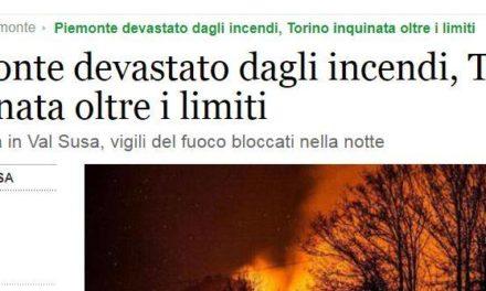 Gli incendi sulle montagne e gli idioti sui social