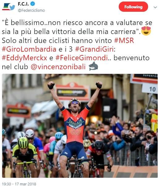Milano – Sanremo, il capolavro di Vincenzo Nibali