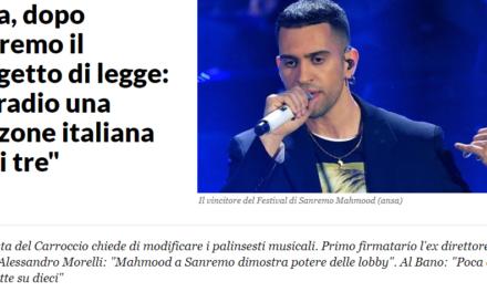 DAVVERO IL 'PRIMA GLI ITALIANI' IN RADIO POTREBBE AIUTARE LA NOSTRA MUSICA?