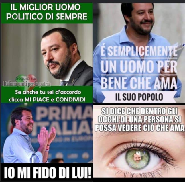 C'E' IL SALVINI LA' FUORI CHE MINACCIA E IL SALVINI CHE E' DENTRO GLI ITALIANI (CHE E' IL VERO PROBLEMA)