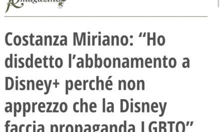 COSTANZA MIRIANO E LA DISNEY FIGLIA DEL DEMONIO